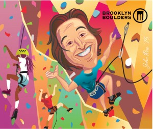 Jeremy Balboni, Brooklyn Boulders Art by John Rose